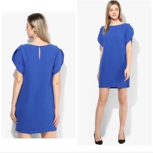 French Connection Blue Colored Solid Shift Dress